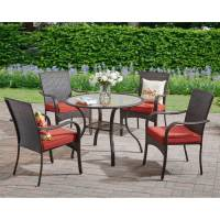 Better Homes and Gardens Outdoor Dining Set, Red - Walmart.com