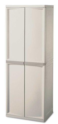 sterilite 01428501 4shelf cabinet with putty handles