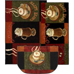 Kitchen Rug Set Best Countertops For Mohawk Home New Wave Caffe Latte Primary Mat Of 3 Multiple Sizes Walmart Com