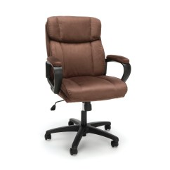 Microfiber Office Chair Kidkraft Lounge Cushion Essentials By Ofm Ess 3082 Plush Brown Walmart Com
