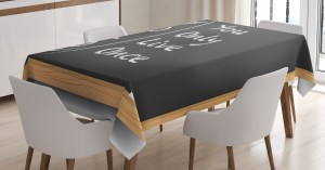 background table kitchen classroom chalkboard abbreviation yolo ambesonne rectangular pale inches themed dining grey brown tablecloth charcoal illustration