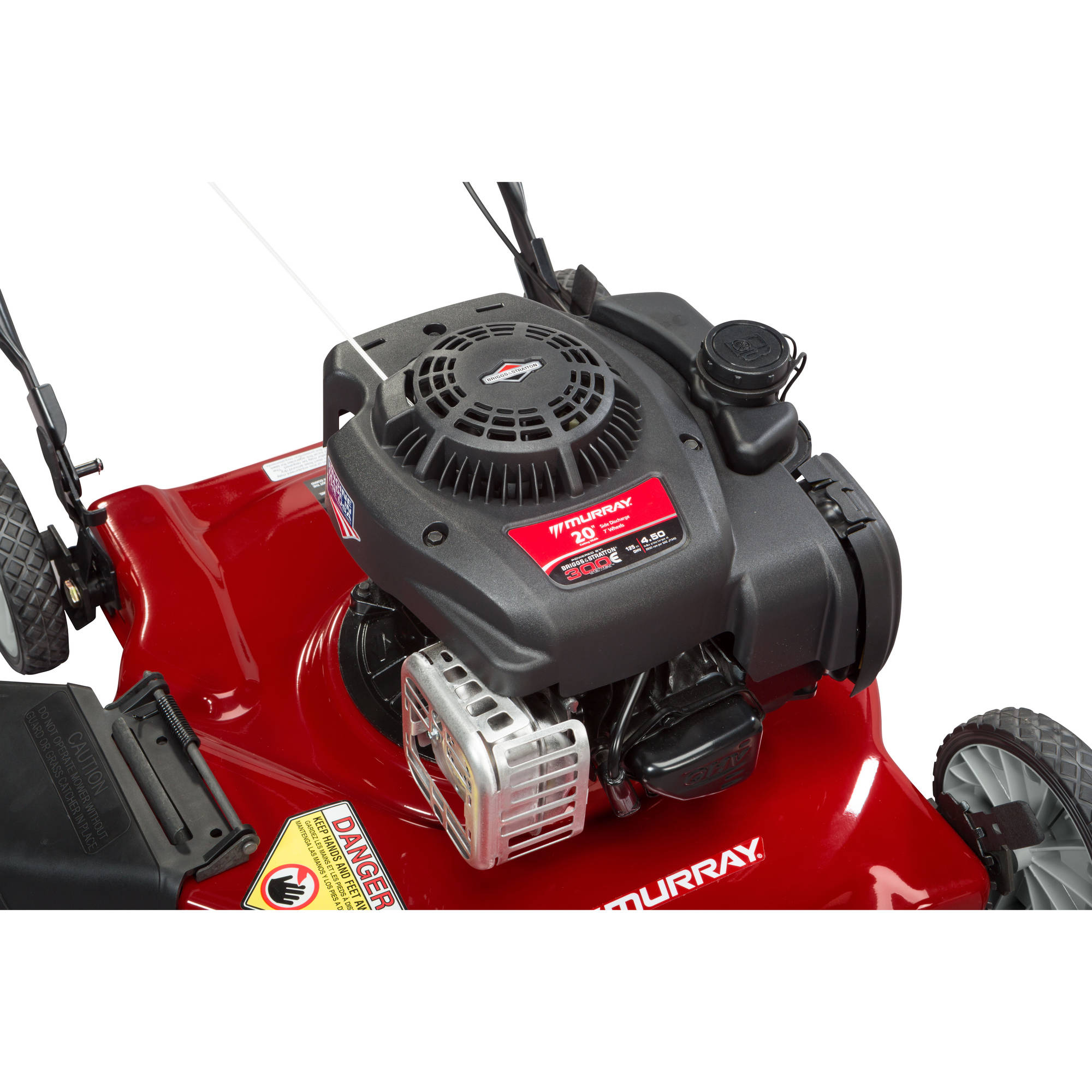 hight resolution of murray 20 125cc gas powered side discharged push lawn mower walmart com