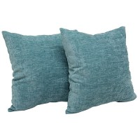 "Mainstays Chenille 18"" x 18"" Decorative Pillow, Set of 2 ..."