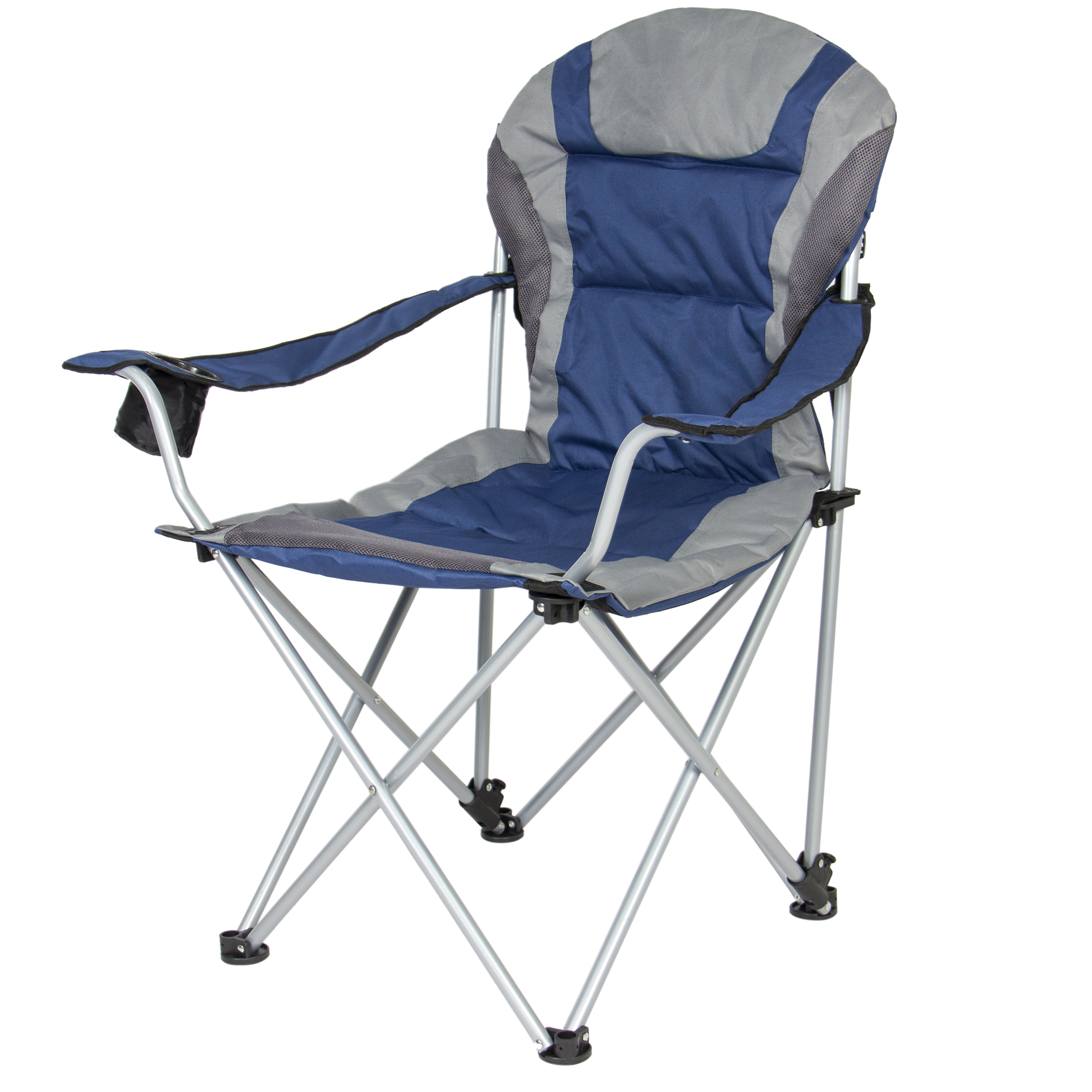 portable beach chair best toddler table and set uk choice products deluxe padded reclining camping fishing w carrying case blue walmart com