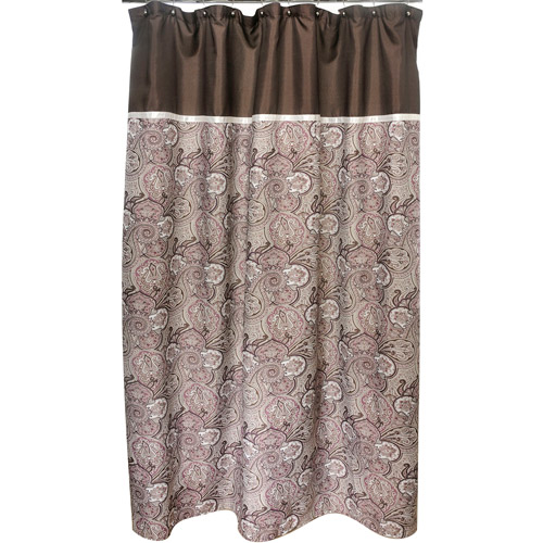 Famous Home Waverly Paddock Shawl Shower Curtain, Brown