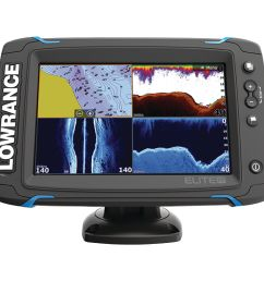lowrance 000 12419 001 elite 7ti touchscreen fishfinder chartplotter with chirp sonar gps sidescan imaging downscan imaging totalscan transducer 7  [ 3000 x 3000 Pixel ]
