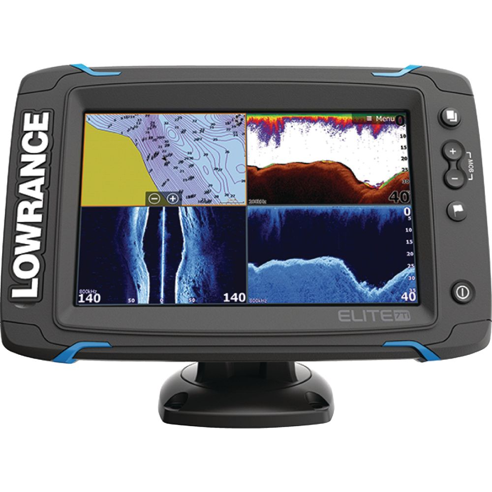 medium resolution of lowrance 000 12419 001 elite 7ti touchscreen fishfinder chartplotter with chirp sonar gps sidescan imaging downscan imaging totalscan transducer 7