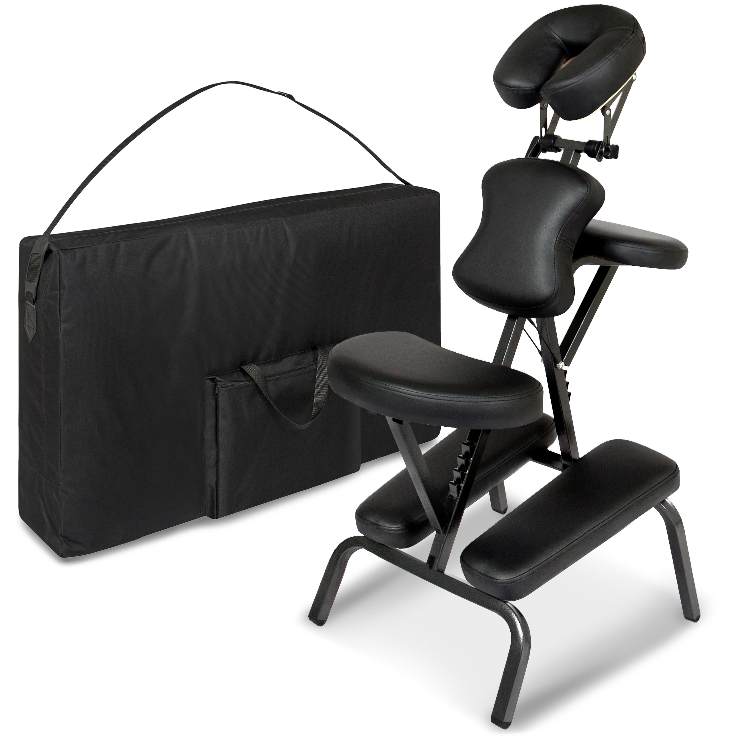 chair gym dvd set patio stacking chairs canada best choice products folding portable light weight massage therapy w carrying bag case black walmart com