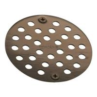 "Moen 102763 4"" Round Shower Drain Cover with Exposed Screw"