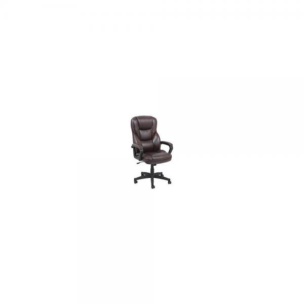 realspace fosner high back bonded leather chair portable walking r 48in h x 28 3