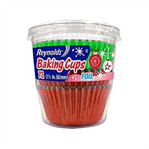 Reynolds Holiday Green Red Foil Baking cups 144