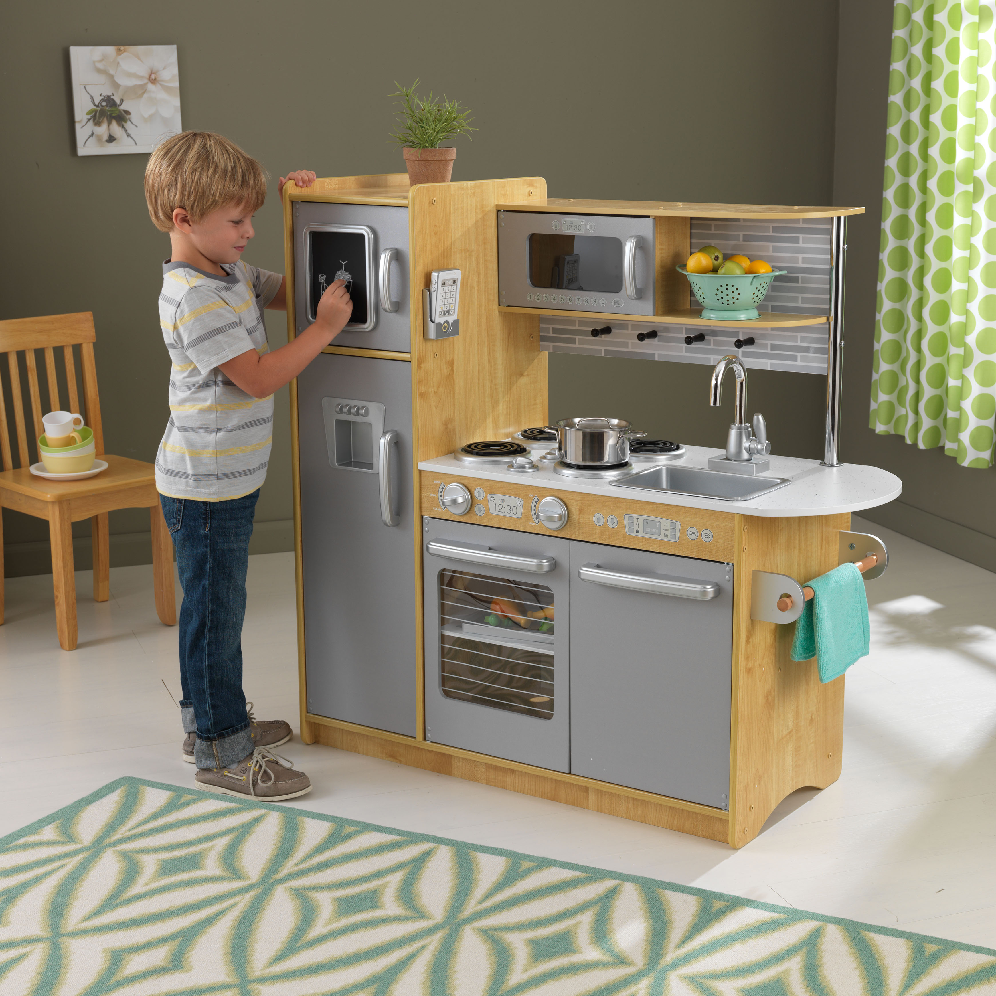 play kitchens for boys costco kitchen aid mixer natural girls pretend kids toy set smart sturdy cooking fun