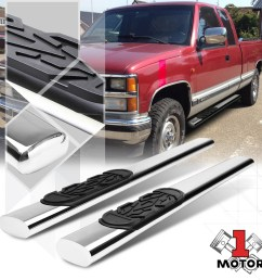chrome 6 side step nerf bar running board for 88 00 chevy gmc c k c10 ext cab 89 90 91 92 93 94 95 96 97 98 99 walmart com [ 1000 x 1000 Pixel ]