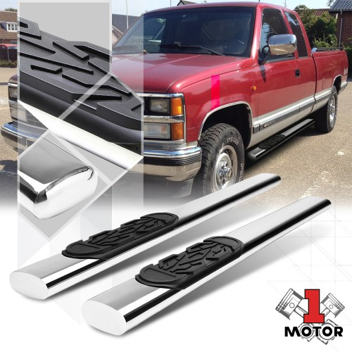 small resolution of chrome 6 side step nerf bar running board for 88 00 chevy gmc c k c10 ext cab 89 90 91 92 93 94 95 96 97 98 99 walmart com
