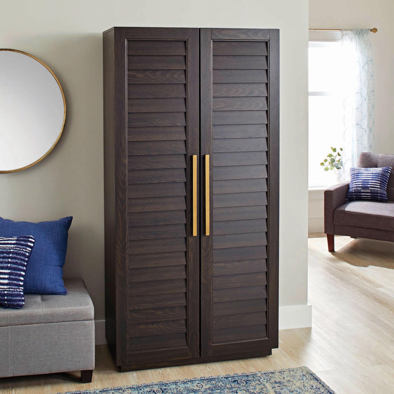 better homes gardens ellis shutter bookcase storage cabinet