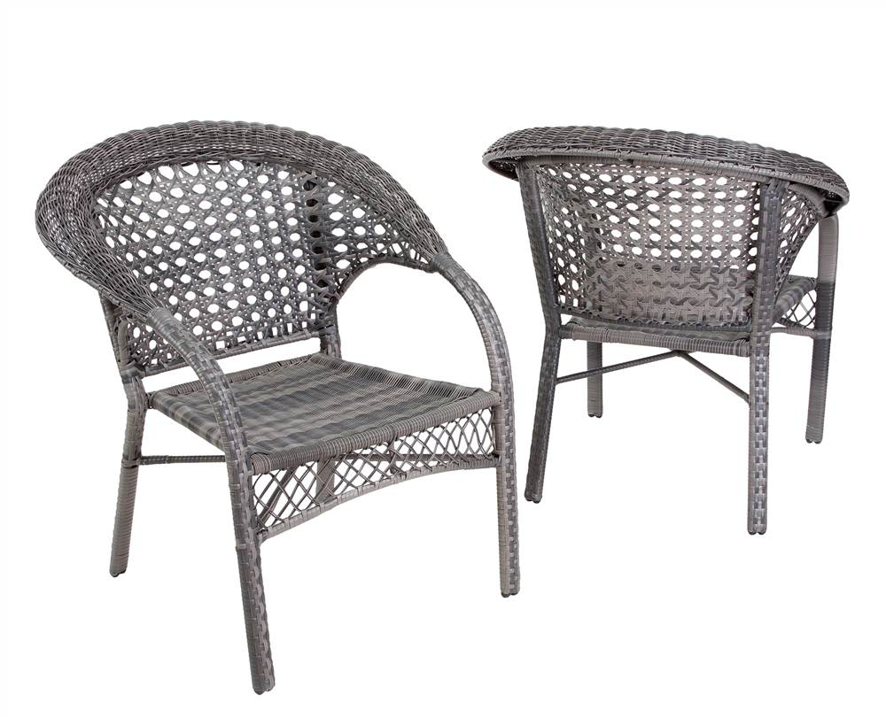 patio club chair in gray set of 2
