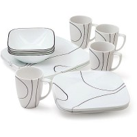 Corelle Square Simple Lines 16-Piece Dinnerware Set - Best ...