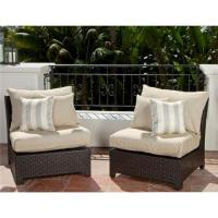 RST Brands Slate Armless Chair Patio Furniture (Pack of 2 ...