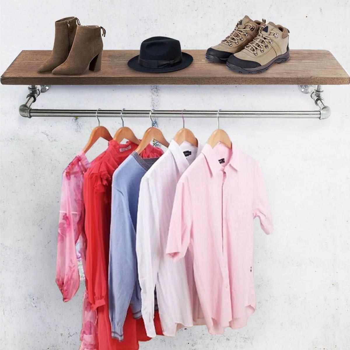 35 industrial pipe clothing rack
