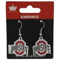 Ohio State Buckeyes Dangler Earrings - Walmart.com