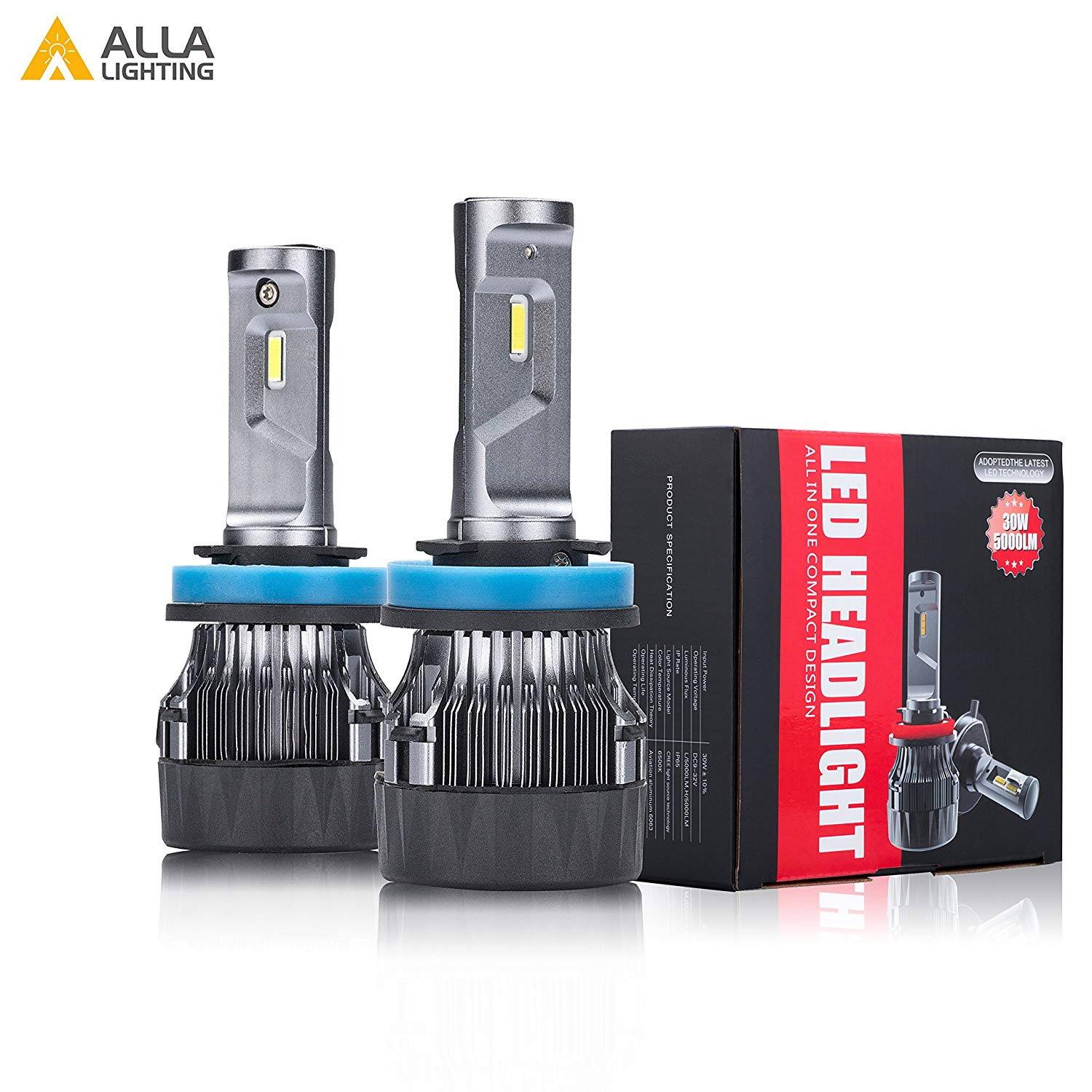 hight resolution of alla lighting h8 h9 h11 led headlight bulbs xtremely super bright s hcr h11 headlamp conversion kits fog light drl bulb 6000k xenon white set of 2