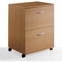 2-Drawer Mobile Filing Cabinet, Maple Finish - Walmart.com