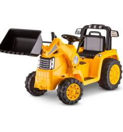 kid trax 6v caterpillar tractor battery powered ride on yellow walmart com [ 1500 x 1500 Pixel ]