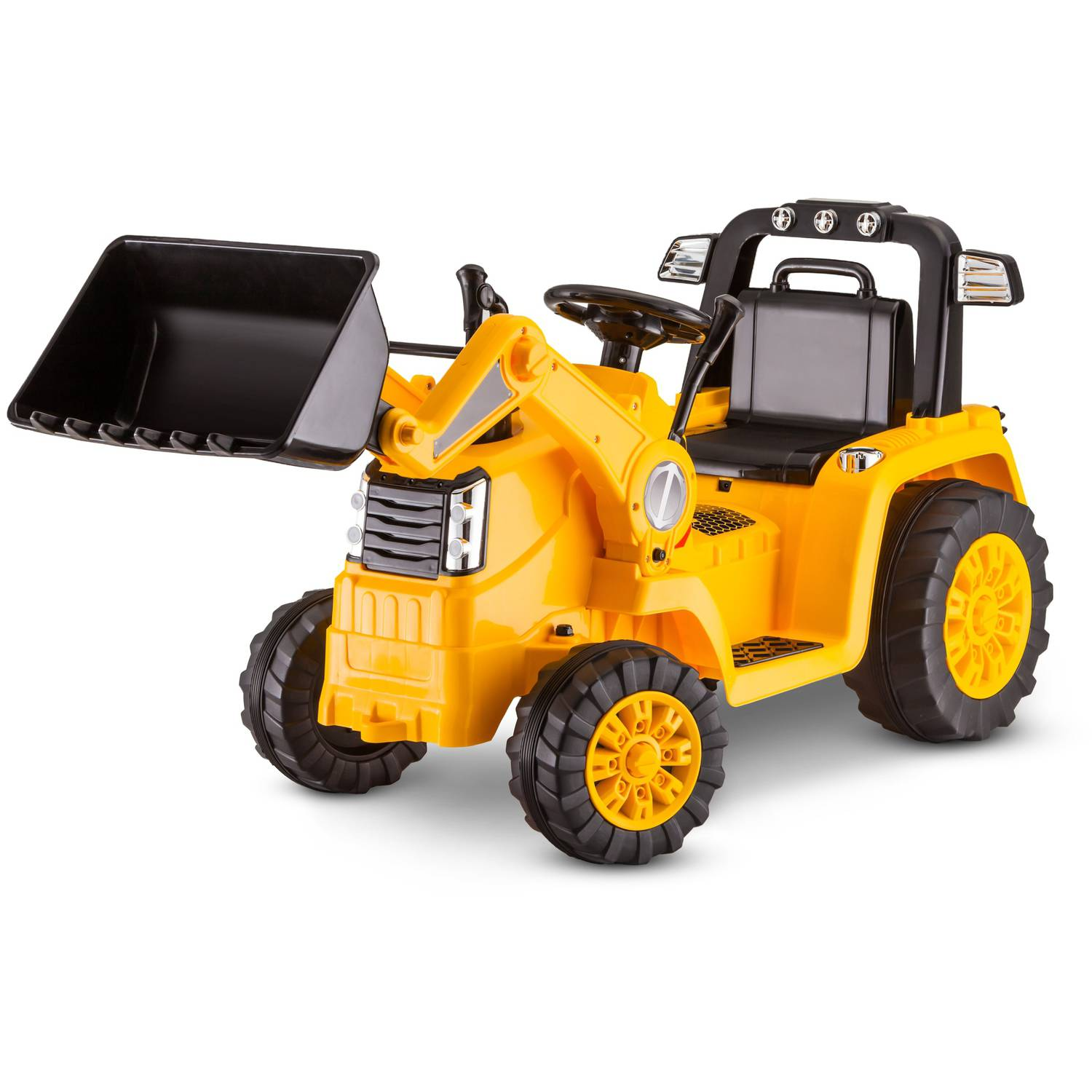 hight resolution of kid trax 6v caterpillar tractor battery powered ride on yellow walmart com