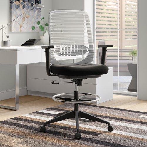modern drafting chair kids table and chairs set brayden studio eindhoven ergonomic mesh walmart com