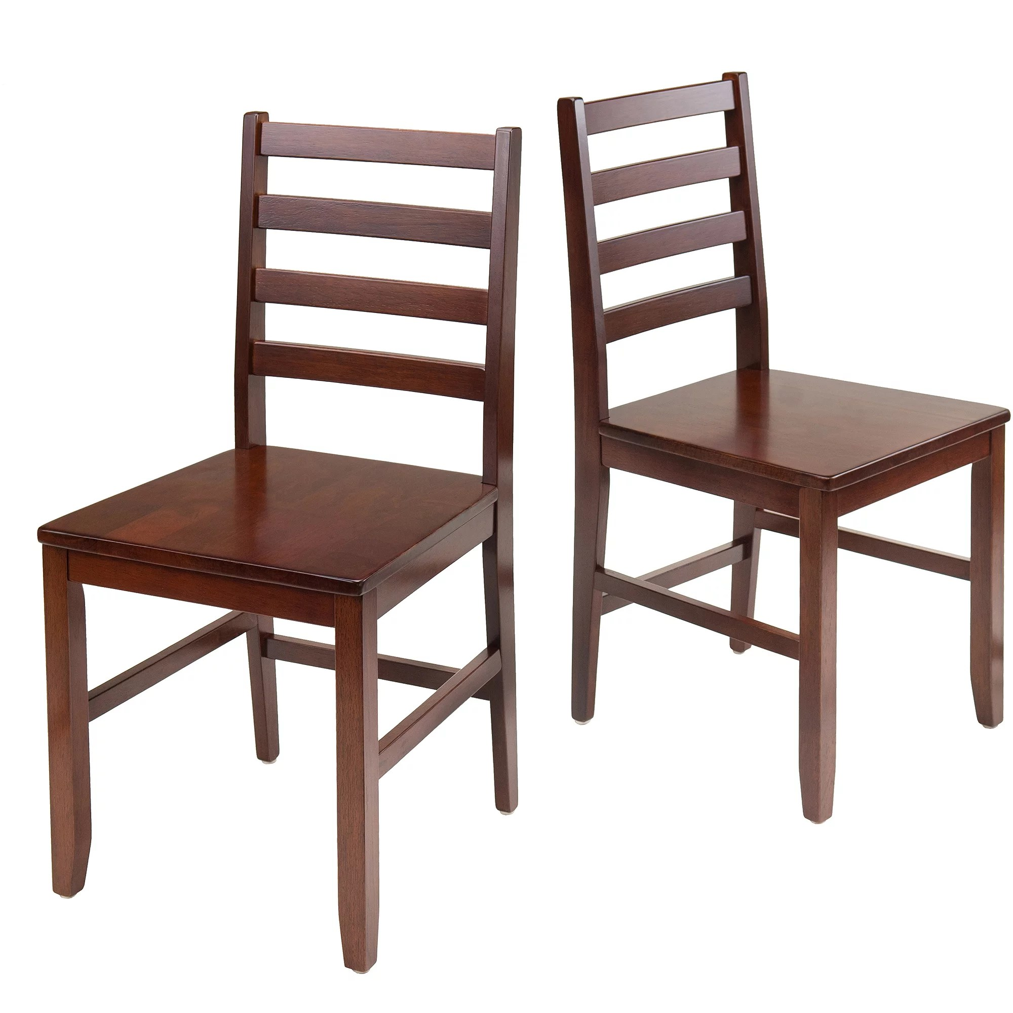 Kitchen Chairs Wood Winsome Wood Hamilton 2 Piece Ladder Back Chair