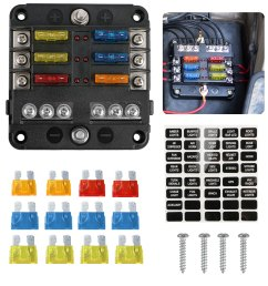 6 circuit blade fuse block 6 way fuse box block holder durable protection cover sticker lable for automotive car boat marine suv bus subway walmart com [ 1600 x 1600 Pixel ]