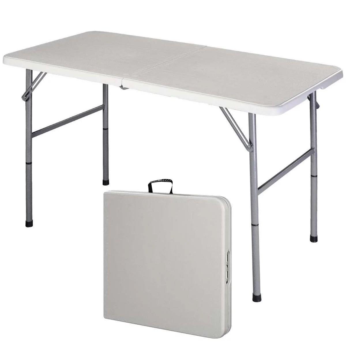 Costway 4 Folding Table Portable Indoor Outdoor Picnic