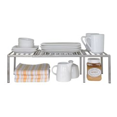Kitchen Counter Rack Tables For Small Spaces Seville Classics Expandable Shelf Organizer Walmart Com
