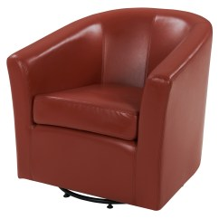 Swivel Tub Chairs Ikea Stocksund Chair Covers Hayden Bonded Leather Multiple Colors Walmart