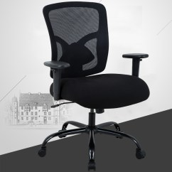 Big And Tall Computer Chair Office Kuwait 400lb Ergonomic Executive Desk Rolling Swivel Adjustable Arms