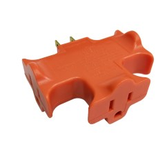 3 Way Outlet Nutone Bathroom Fan Wiring Diagram Hyper Tough Plug Adapter Prong Orange For Indoor Use Walmart Com