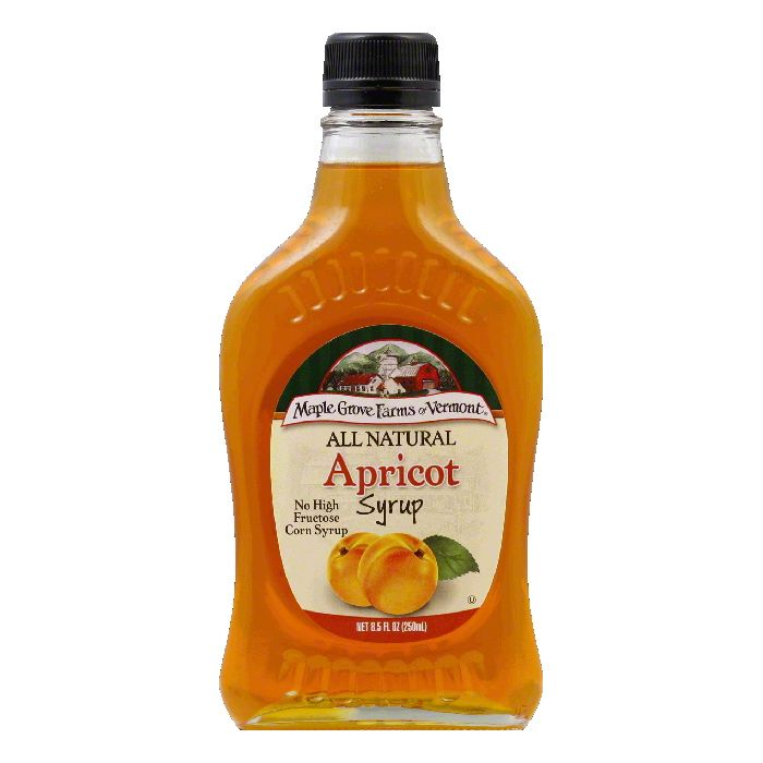 Maple Grove Farms Syrup Natural Apricot 85 OZ Pack of 6