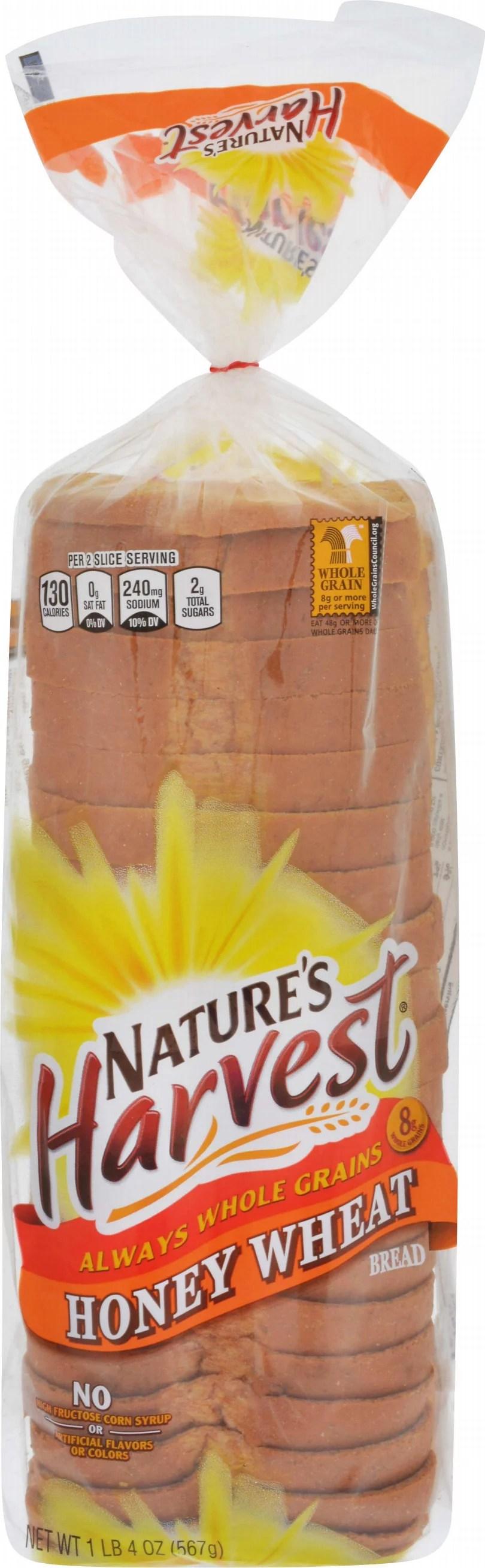 Nature's Harvest Honey Wheat Bread 20 oz - Walmart.com