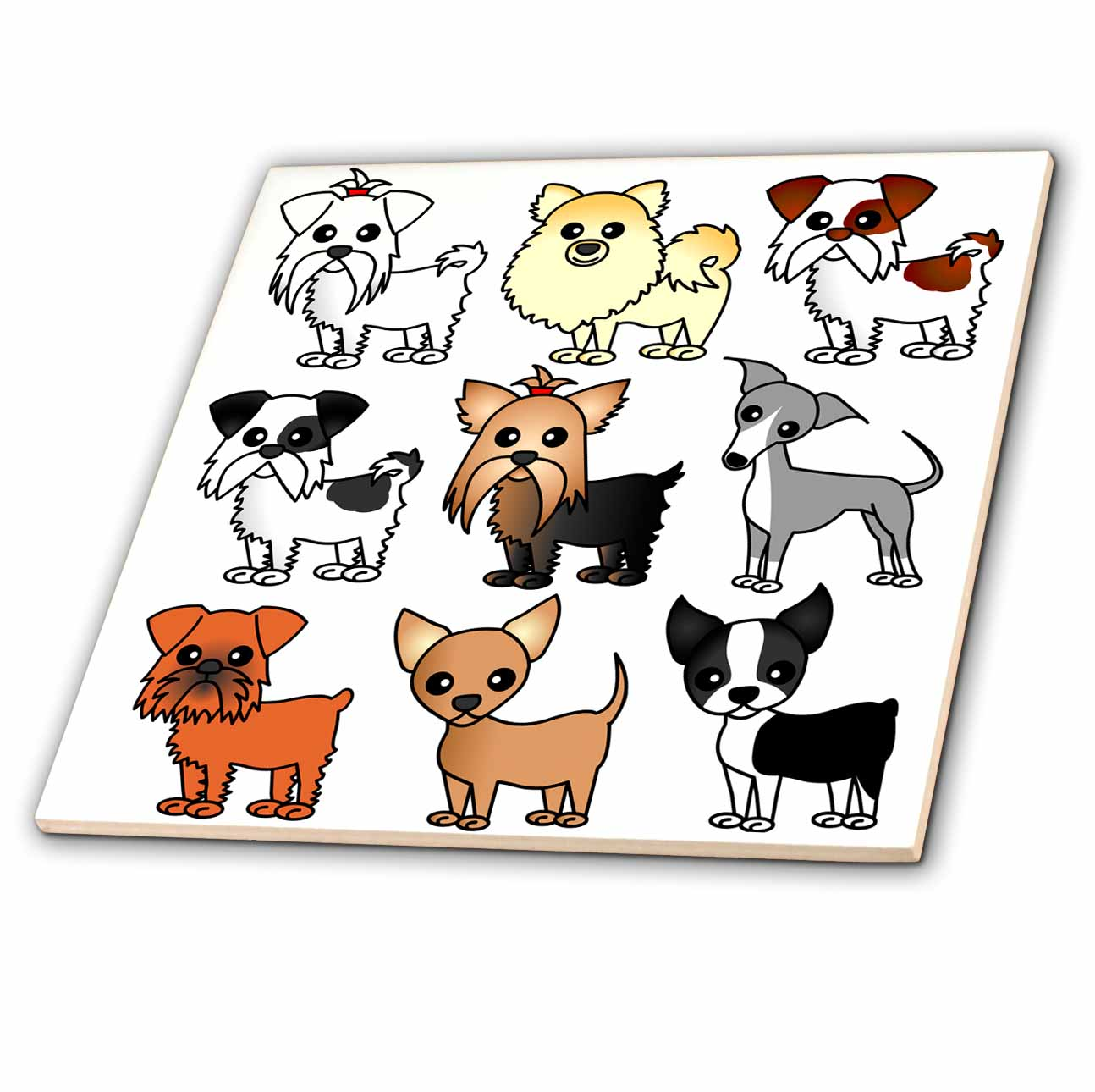 https www walmart com ip 3drose cute toy breed dogs ceramic tile 6 inch 840419277