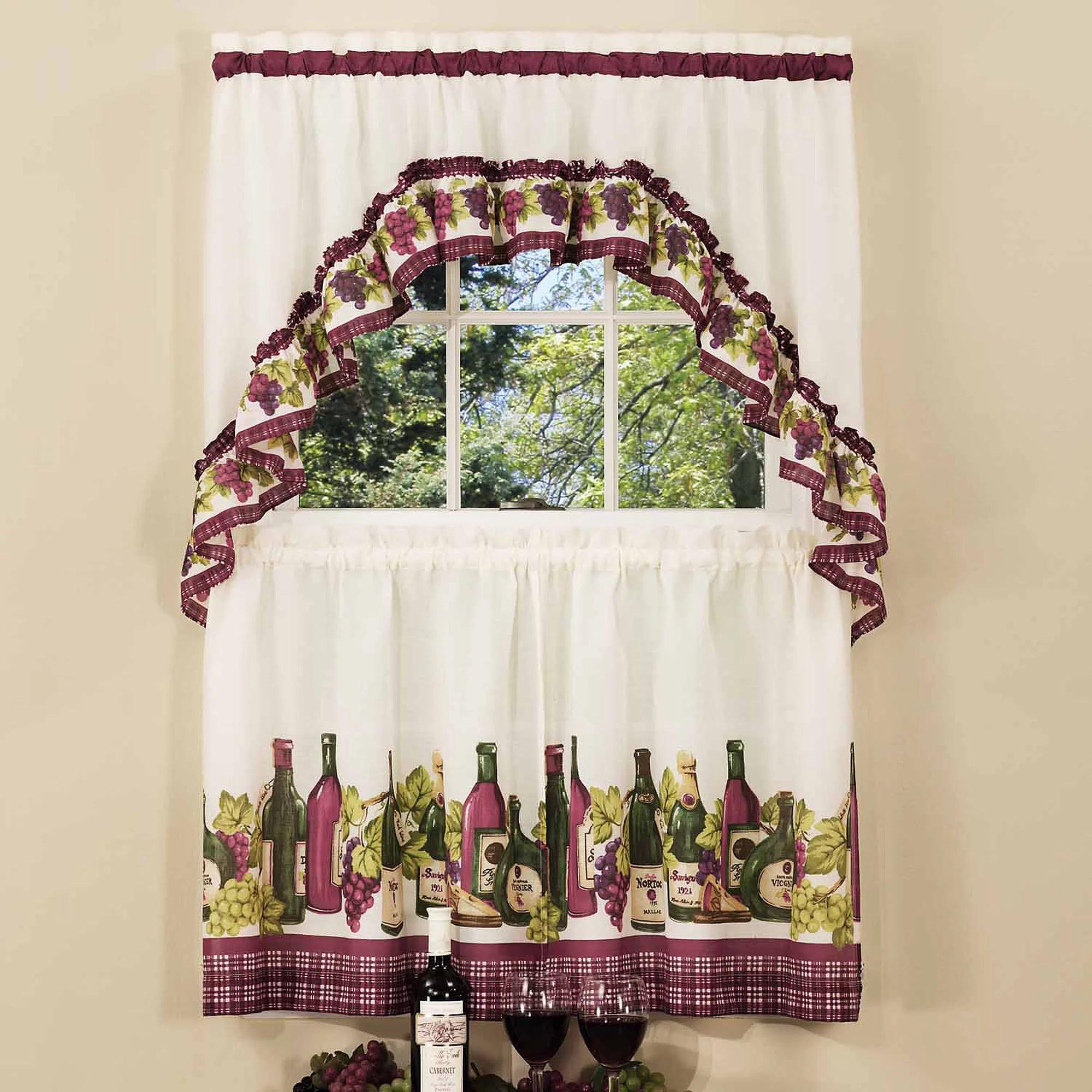 chardonnay kitchen curtain swag set 1 each walmart com