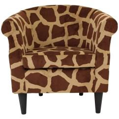 Giraffe Print Chair Cozee Home Covers Nikole Club Walmart Com