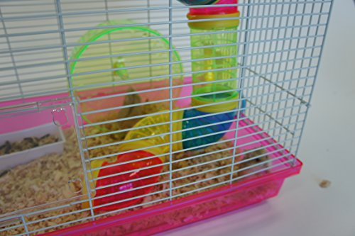 YML Dwarf Hamster Mice Cage with Color Tubes and ...