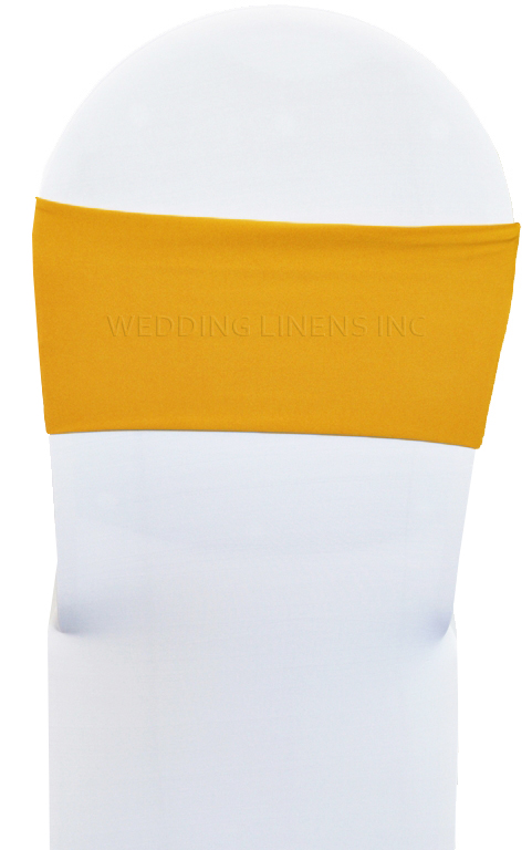 yellow spandex chair sashes wrought iron dining room chairs wedding linens inc 10 pcs 7a x 13a stretch bands double layered lycra elastic sash band bows for party banquet