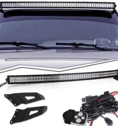 99 06 chevy silverado gmc sierra steel metal upper roof windshield mounting brackets 54 inch curved led work light bar wiring kits tahoe suburban  [ 1000 x 1000 Pixel ]