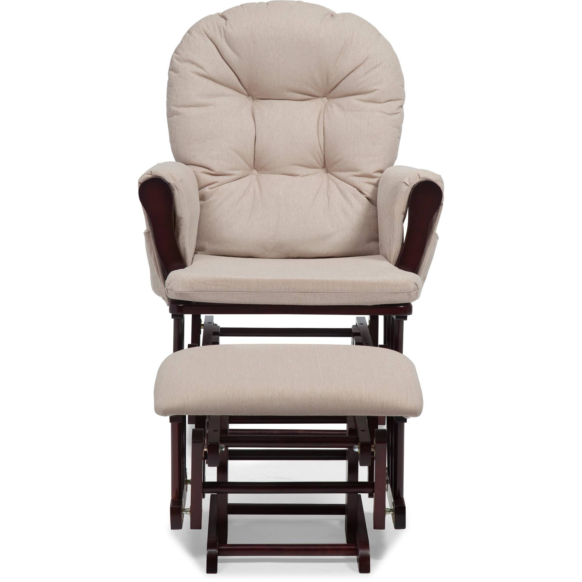 glider recliner chair with ottoman salon chairs ebay nursery baby set rocking wood