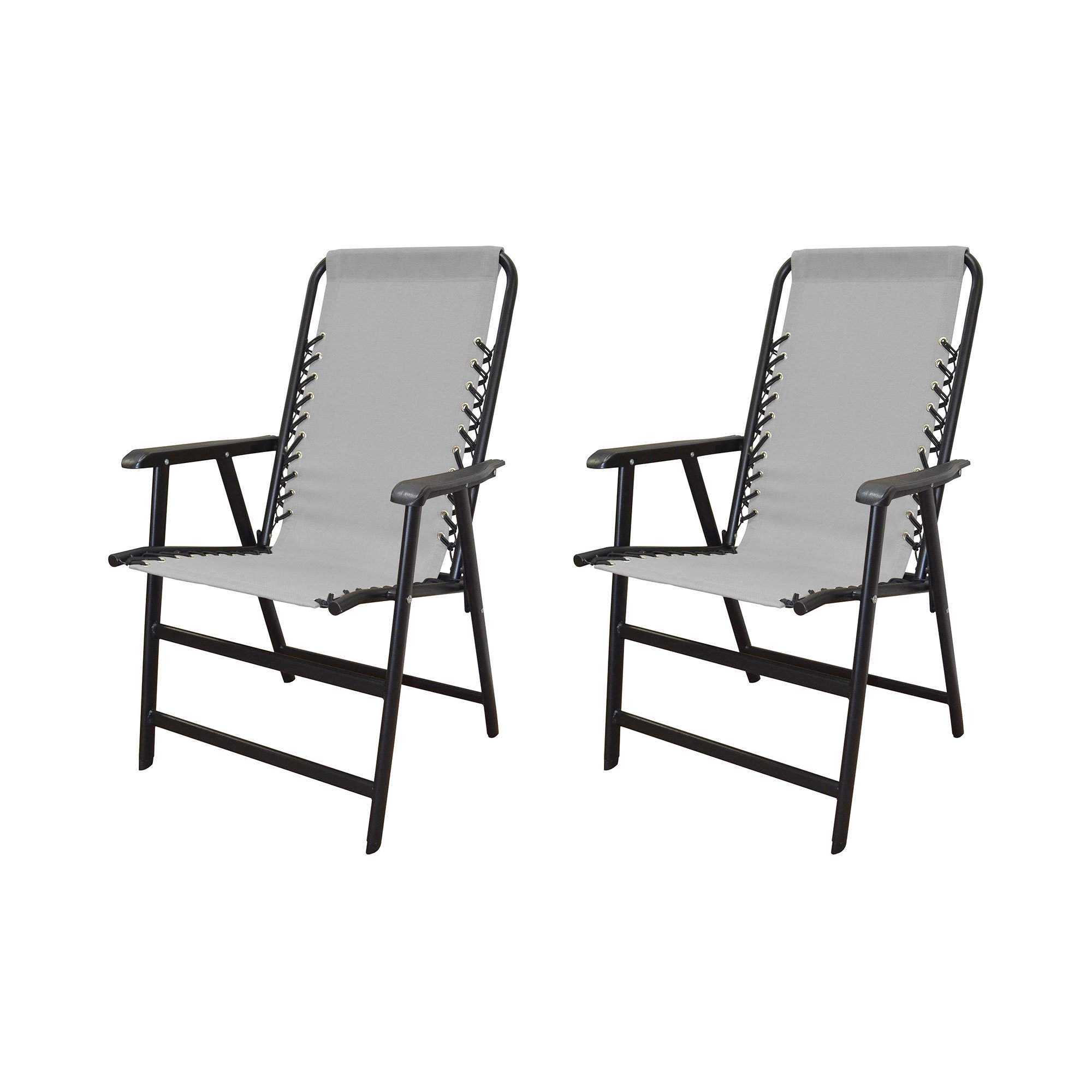 caravan canopy folding chairs dark blue chair covers infinity suspension steel frame deck gray 2 pack walmart com
