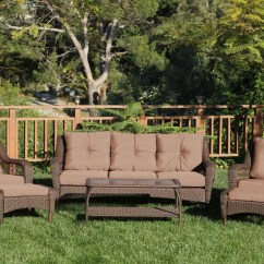 Woven Outdoor Chair Cover Rentals Pensacola Fl Cosco Furniture 7 Piece Lakewood Ranch Steel Wicker Patio Dining Set With Cushions Brown Walmart Com