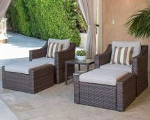 suncrown 5pc outdoor wicker sofa