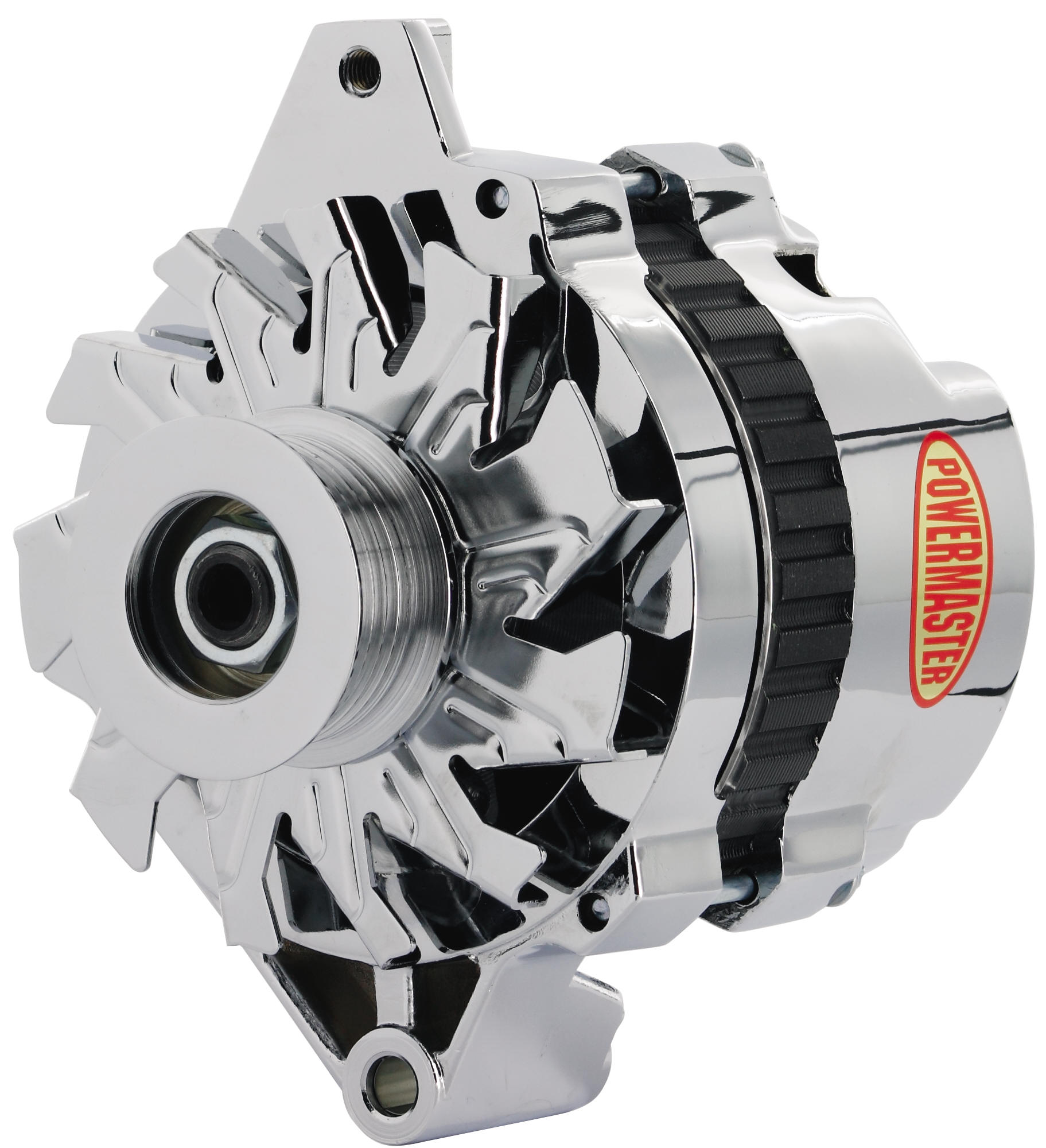 powermaster 17802 alternator generator gm cs130 style 6 groove serpentine pulley 105 amp straight mount one wire oe chrome walmart canada [ 2000 x 2000 Pixel ]