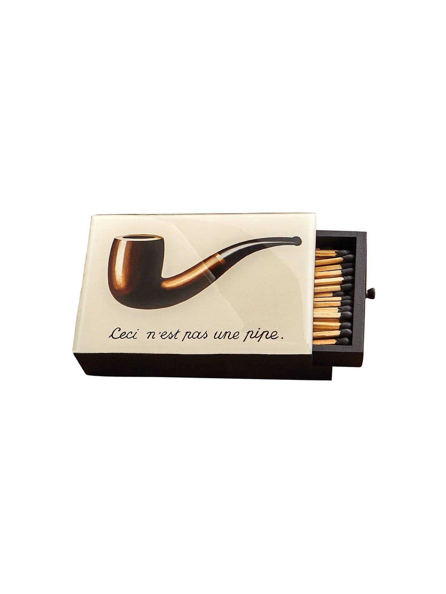 Ceci N'est Pas Une Pipe : n'est, N'est, Matchbox,, Reusable, Wooden, Match, Storage, Matches, Walmart.com